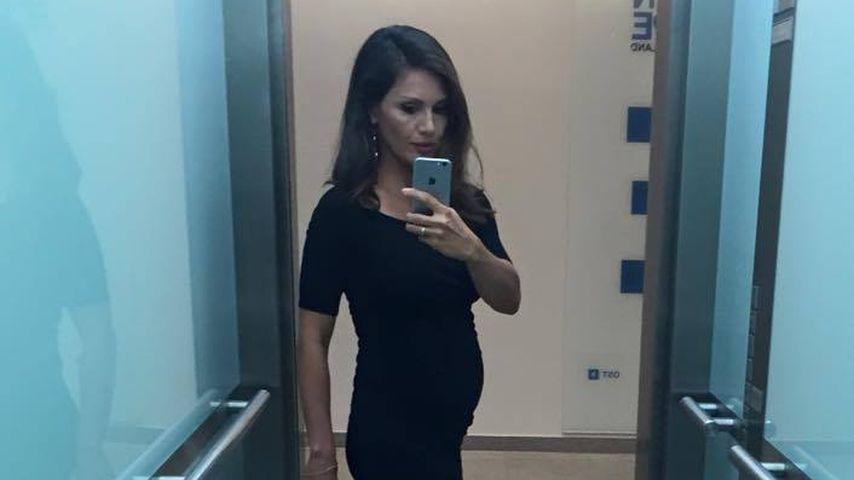 Nazan Eckes mit Babybauch im Juli 2016