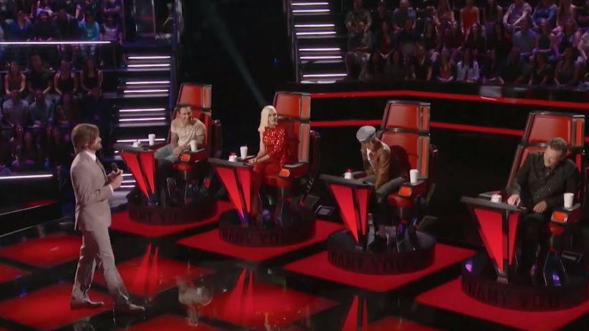 Gwen Stefani, Blake Shelton, adam levine, Neil Patrick Harris und Pharrell Williams