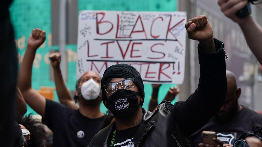 Nick Cannon bei einem Black-Lives-Matter-Protest in NYC im Juni 2020