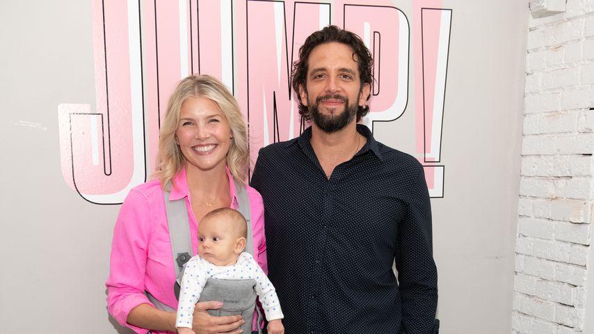 Nick Cordero mit seiner Frau Amanda und ihrem gemeinsamen Sohn