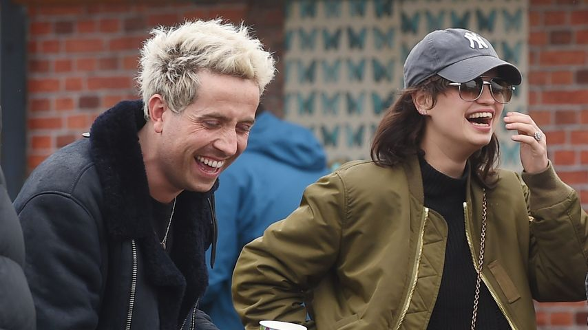 Nick Grimshaw und Pixie Geldof beim Glastonbury Festival 2016