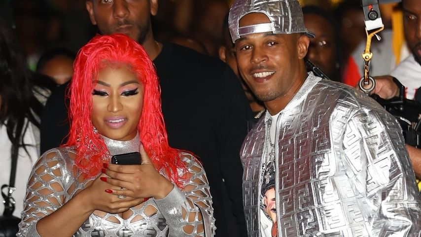 Nicki Minaj und Kenneth Petty bei einem Fashion-Event in Beverly Hills