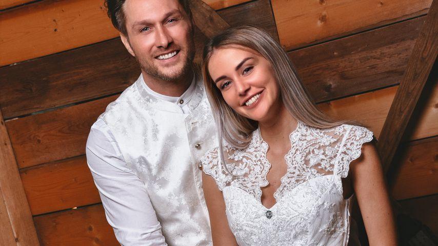 Nico Schwanz und Julia Prokopy beim Angermaier-Trachten-Shooting