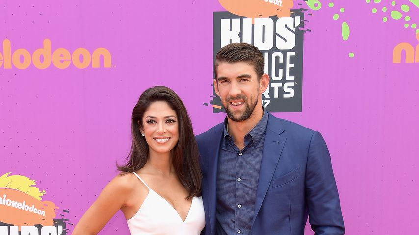 Nicole Johnson und Michael Phelps bei den Nickelodeon Kids' Choice Awards 2017
