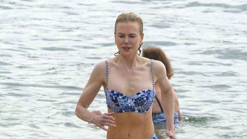 Seltener Anblick! Nicole Kidman (48) zeigt sexy Bikini-Figur
