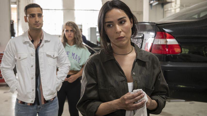 "Nihat (Timur Ülker), Liz (Sarah Mangione) und Shirin (Gamze Senol) in ""Nihat – Alles auf Anfang"""