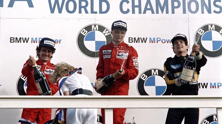 Niki Lauda bei einem Grand-Prix-Rennen 1985