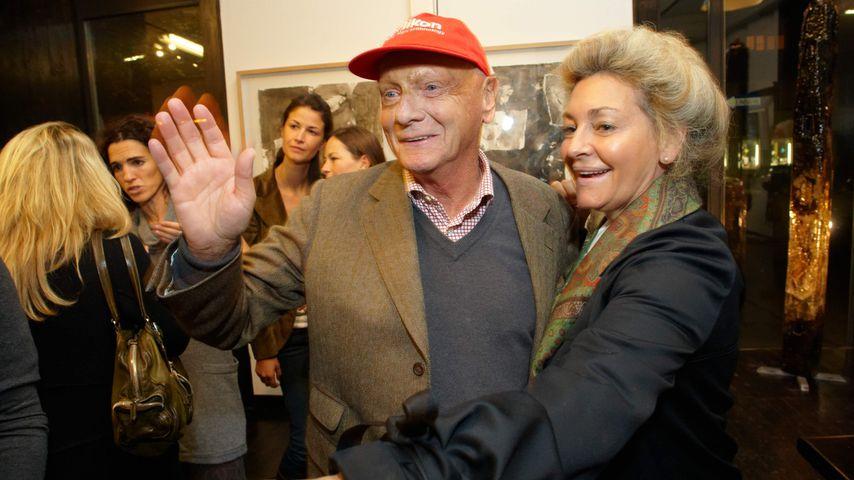 Niki Lauda mit seiner Ex-Frau Marlene Knaus