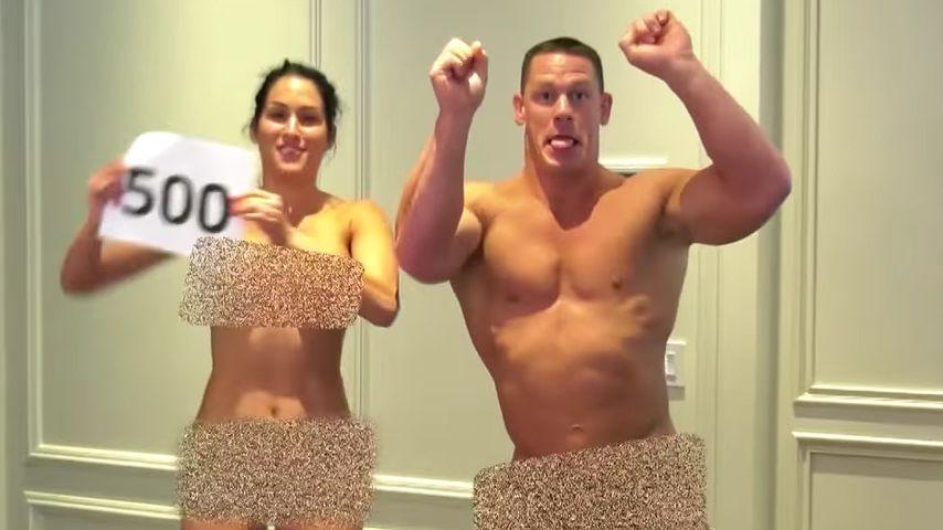 Vor laufender Kamera: WWE-Paar Nikki & John macht sich nackt