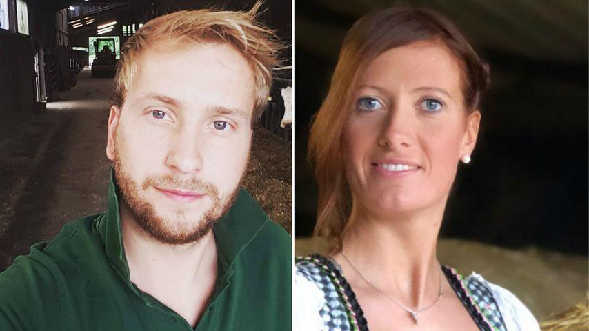 """Collage: Nils Dwortzak und Denise Munding, """"Bauer sucht Frau""""-Stars 2020"""