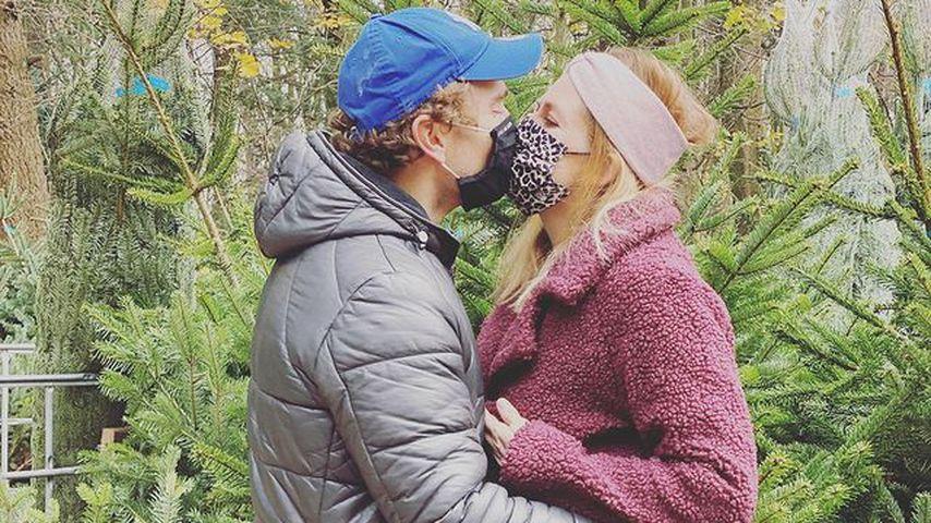 Nina Bott und ihr Freund Benjamin Baarz im Dezember 2020
