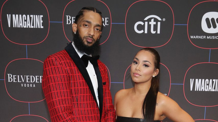 Nipsey Hussle und Lauren London bei einer Pre-Grammy Party
