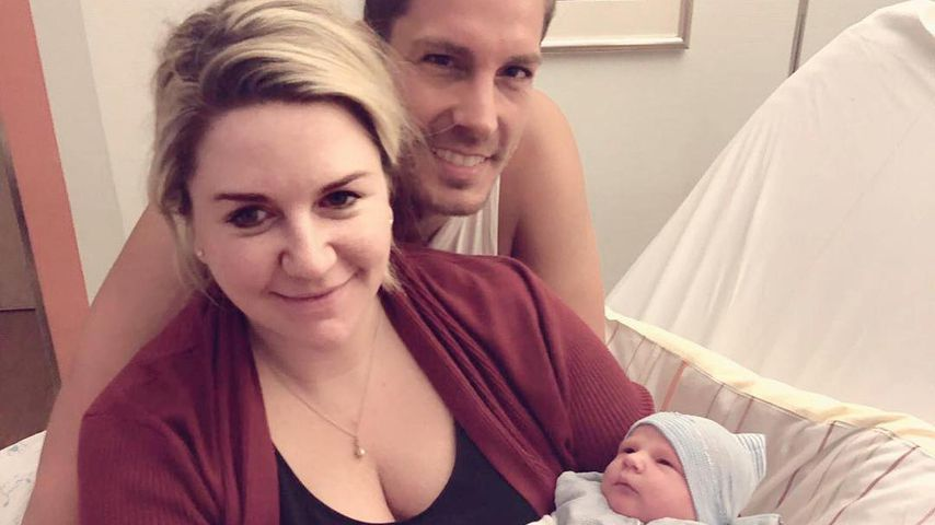 Komplikationen: Norman Langens Baby wäre fast gestorben