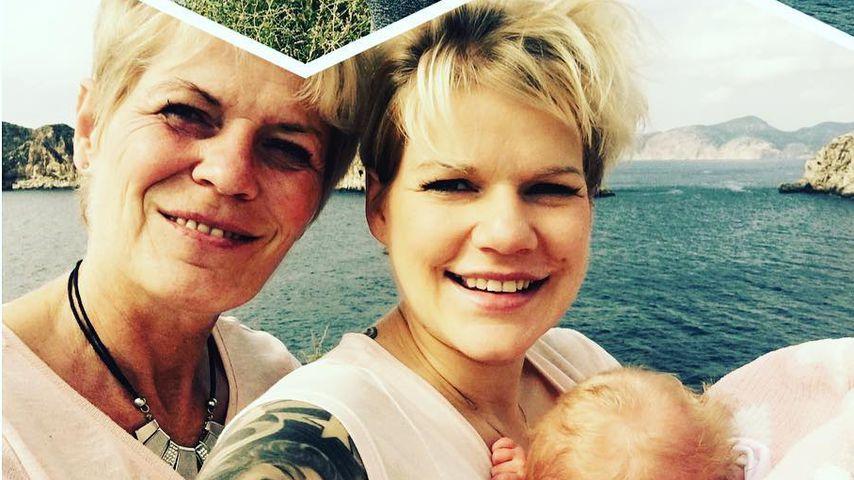 Melanie Müller mit ihrer Mutter und ihrer Tochter Mia Rose