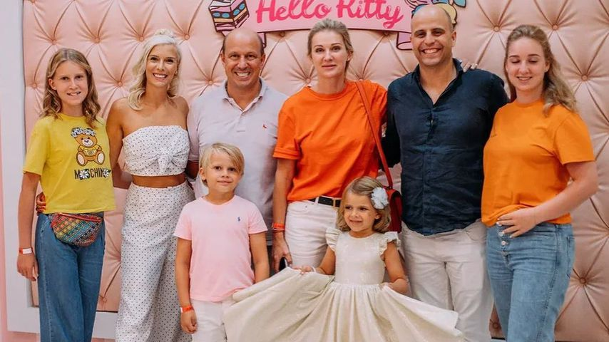 Oksana Kolenitchenko und ihre Familie im August 2021