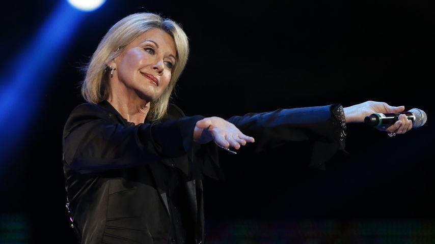 Olivia Newton-John bei einem Auftritt in Chile 2017