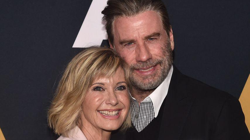 """Olivia Newton-John und John Travolta beim 40-jährigen Jubiläum von """"Grease"""" 2018 in Beverly Hills"""