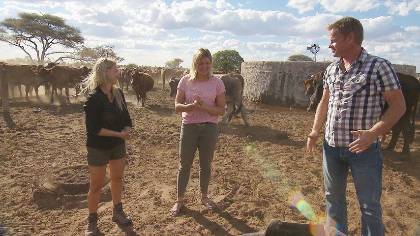 """Oliwia, Ilona und Jörn bei """"Bauer sucht Frau"""" in Namibia"""