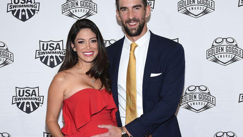 1. Babybauch-Pic: Michael Phelps Ehefrau zeigt ihre Kugel