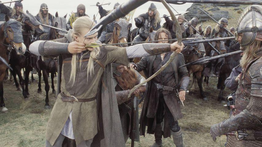 """Orlando Bloom, John Rhys-Davies und Viggo Mortensen in """"Der Herr der Ringe: Die zwei Türme"""""""