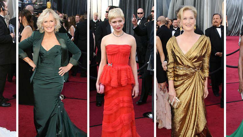 Welche Nominierte trug das schönste Oscar-Kleid?