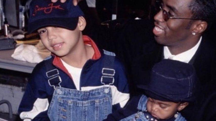 US-Musiker P. Diddy mit zweien seiner drei Söhne