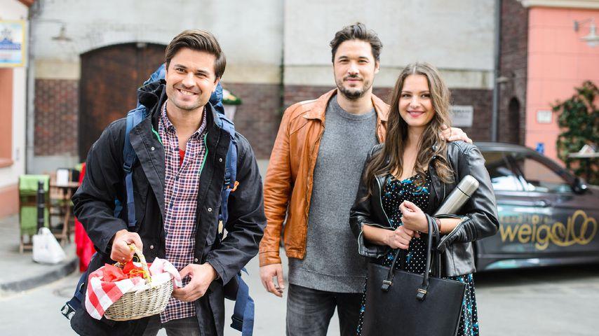 """Paco (Milos Vukovic), Jakob (Alexander Milo) und Saskia (Antonia Michalsky) bei """"Unter uns"""""""