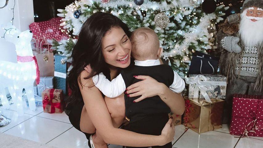 Paola Maria mit Sohn Leonardo an Weihnachten 2019