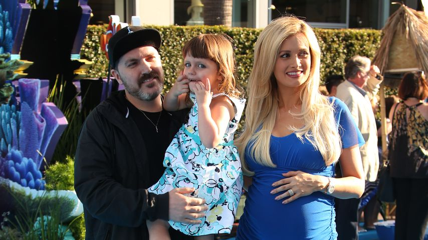 "Pasquale Rotella, Holly Madison und Tochter Rainbow Aurora bei der ""Finding Dory""-Premiere in L.A."