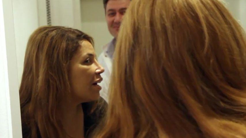 Patricia Blanco nach ihrer Nasen-OP in der Kö-Klinik