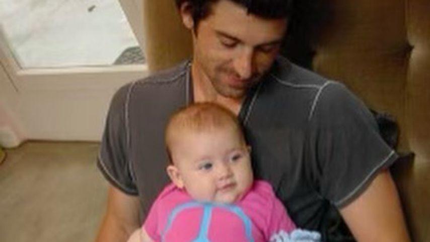 Patrick Dempsey mit seiner Tochter Tallula im Jahr 2002