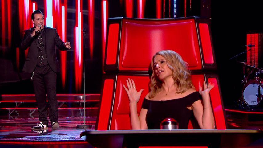 """Paul Black und Kylie Minogue bei """"The Voice UK"""" 2014"""