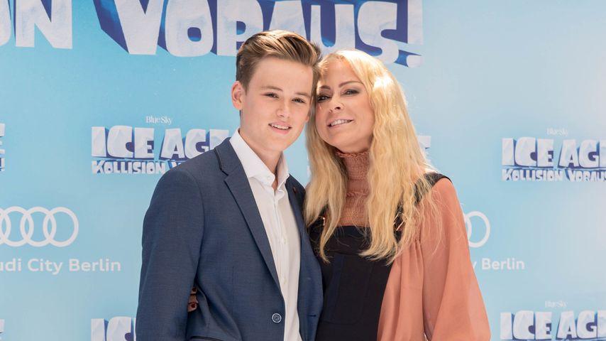 """Paul Elvers und Mutter Jenny Elvers auf der """"Ice Age: Kollision voraus""""-Premiere"""