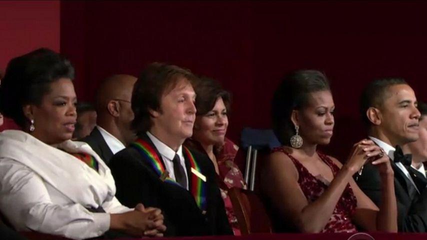 Barack Obama, Michelle Obama, Paul McCartney und Oprah Winfrey
