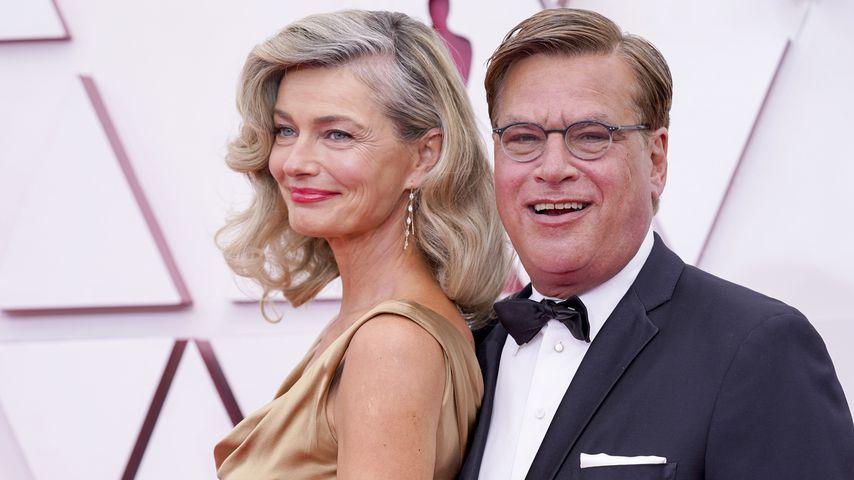 Paulina Porizkova und Aaron Sorkin bei der Oscarverleihung 2021