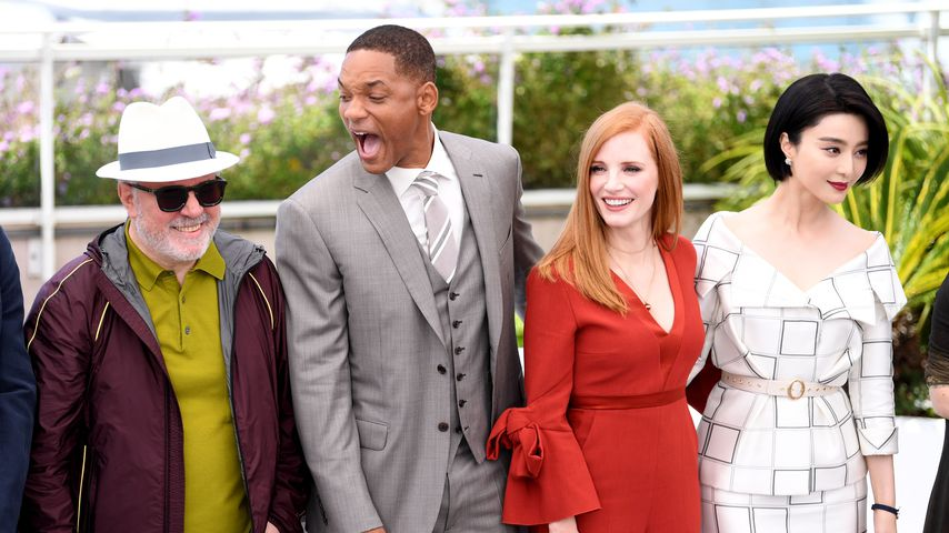 Pedro Almodovar, Will Smith, Jessica Chastain und Fan Bingbing in Cannes