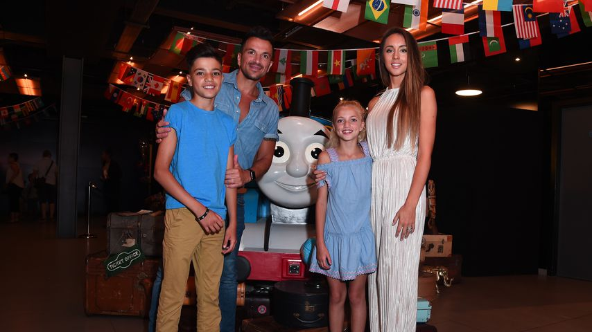 Peter Andre, Junior Andre, Princess Andre und Emily MacDonagh