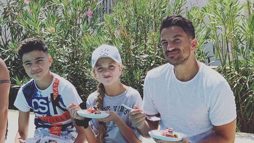 Peter Andre mit Sohn Andre und Tochter Princess im August 2019