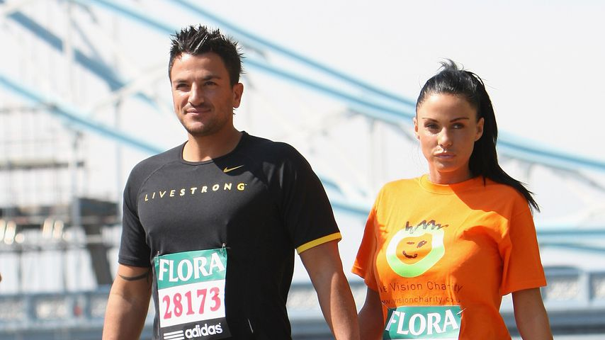 """Peter Andre und Katie Price, """"Celebrity Marathon Runners"""" in London 2009"""