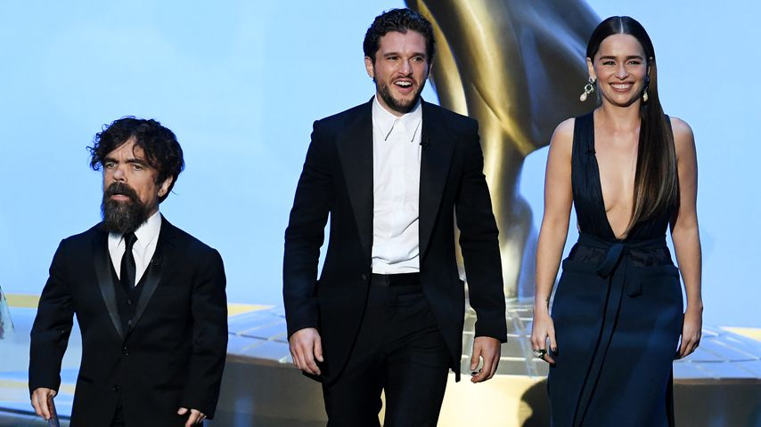 Peter Dinklage, Kit Harington und Emilia Clarke bei den 71. Emmy Awards