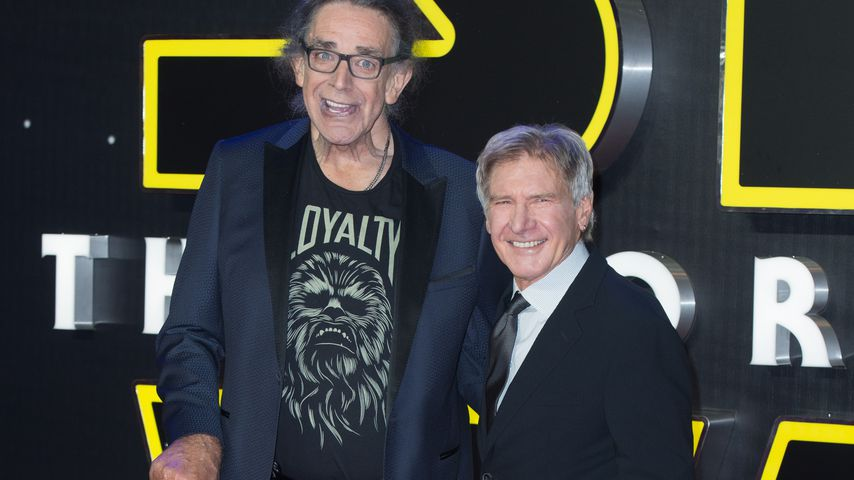 Peter Mayhew und Harrison Ford in Los Angeles