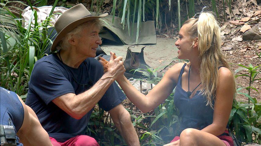 Peter Orloff und Evelyn Burdecki an Tag 10 des Dschungelcamps