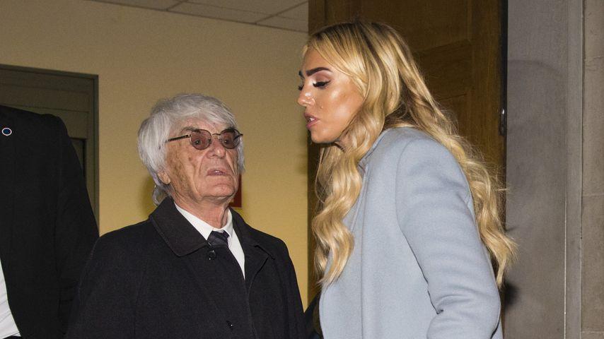 Petra mit Papa Bernie Ecclestone, November 2018