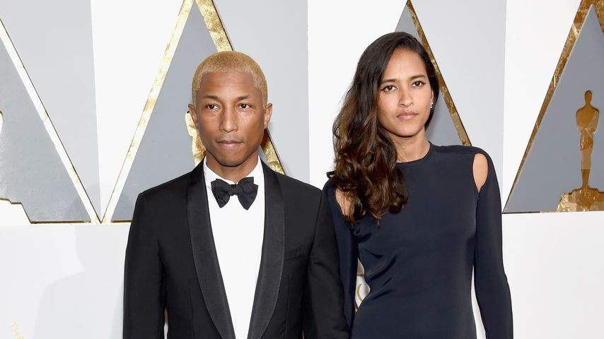 Pharrell Williams und Ehefrau Helen Lasichanh bei der 88. Oscar-Verleihung in Los Angeles