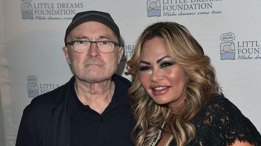 Phil Collins und seine Ex-Frau Orianne Cevey im Oktober 2017 in Miami Beach