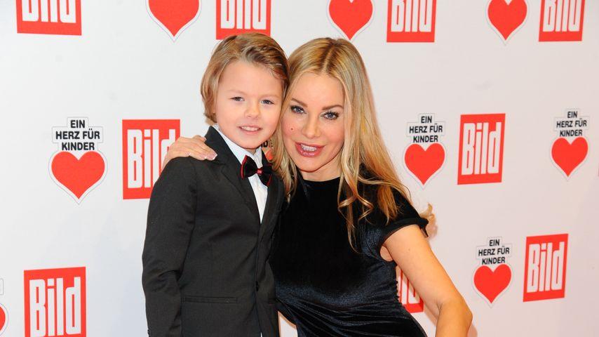 Xenia Seeberg und Sohn Philias Martinek