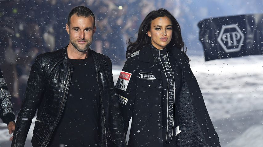Philipp Plein und Irina Shayk auf der New York Fashion Week 2018