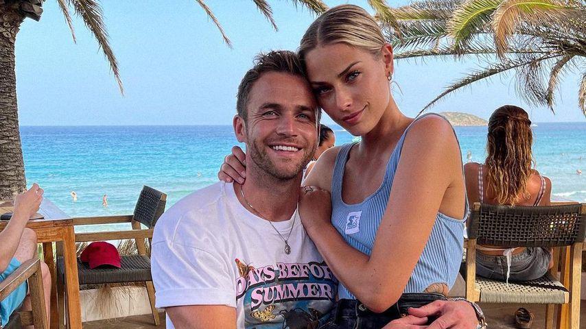 Philipp Stehler und Vanessa Ciomber im August 2021 auf Ibiza