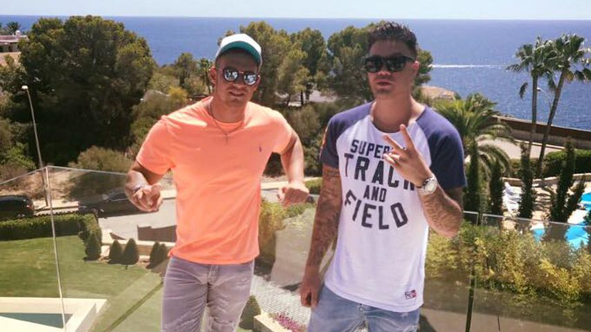 Pietro Lombardi und Kay One beim Videodreh auf Mallorca