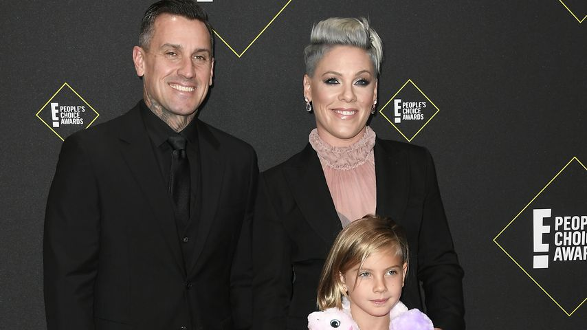 Sängerin Pink mit ihrer Familie bei den People's Choice Awards